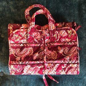 Vera Bradley Piccadilly Plum Hanging Cosmetic Bag